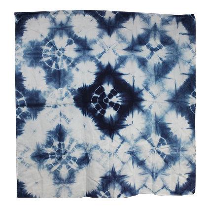 Indigo dye origami Scarf