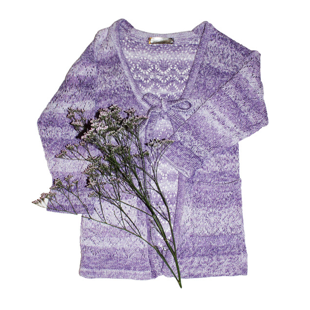 Lace knit lavender Cardigan