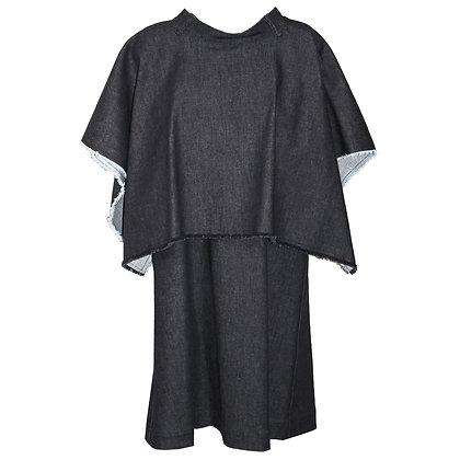 Belt Neck Layered DRESS