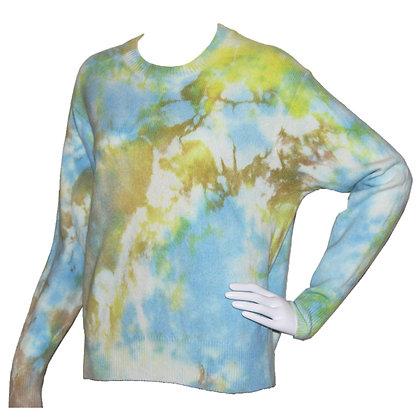 Tie dye 3 color wool sweater