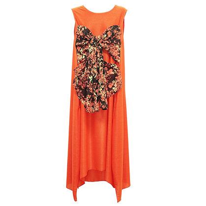 Flower bustier layered Dress