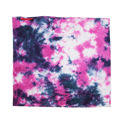 Tie dye 2colorHandkerchief with glitter