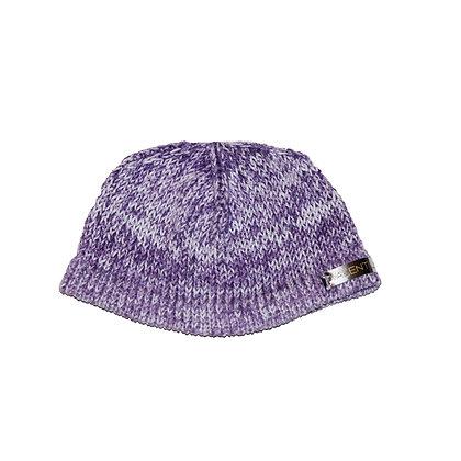 Knit lavender baby Beanie