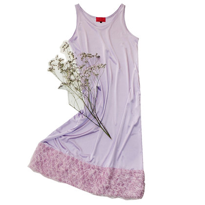 Indian fringe camisole lavender Dress