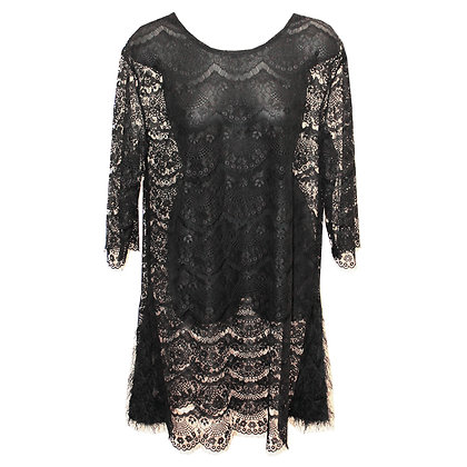 Scallop lace mini Dress