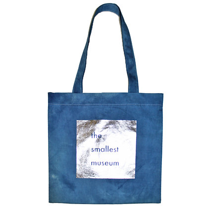 Indigo dye origami Bag