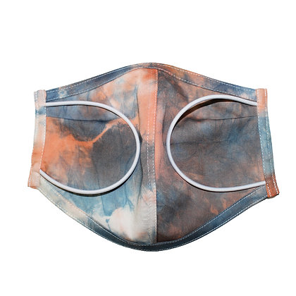Tie dye 2 color 3D Mask OR  Size L