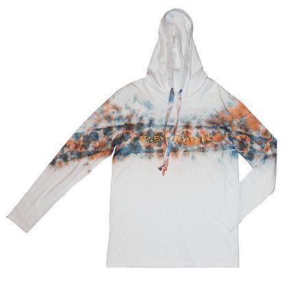 Tie dye 2 color long Tee hoodie size 1