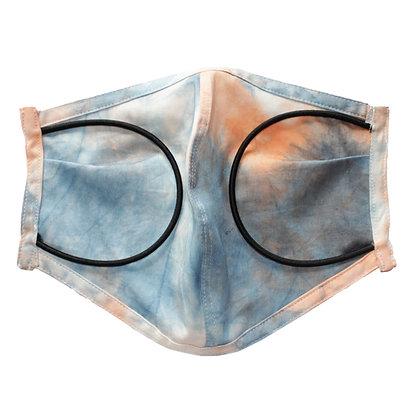 Tie dye 2 color 3D Mask OR  Size L
