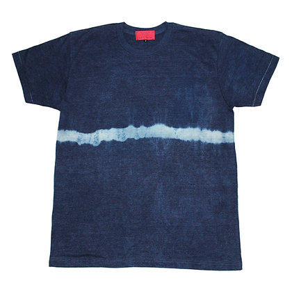 Indigo dye line rayon Tee size 2 BP