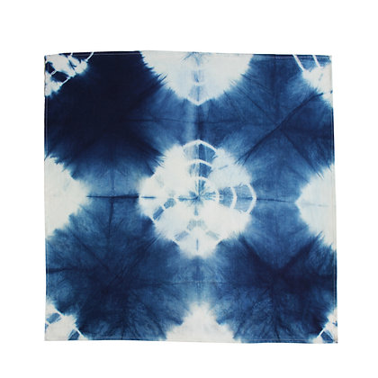 Indigo dye origami Handkerchief