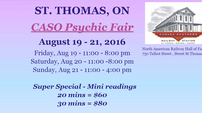 CASO Station Psychic Fair - Aug 19 - 21