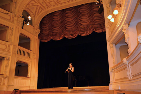 Performing in Sarteano, SI, Italy