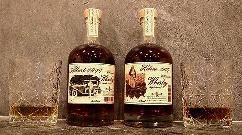 "Set Whisky "" Albert 1911 und Helene 1907"""