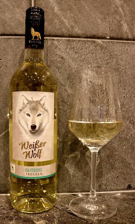 """""""Weisser Wolf"""" Gutedel Qualitätswein 0,75ltr"""