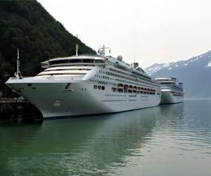 Cruise ships in Sakgway Alaska