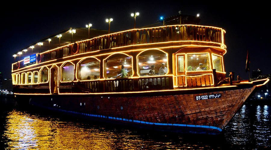 Dubai Itinerary - Dhow Dinner Cruise Dubai Creek