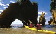 Kayaking at Hopewell Rocks in the Bay of Fundy