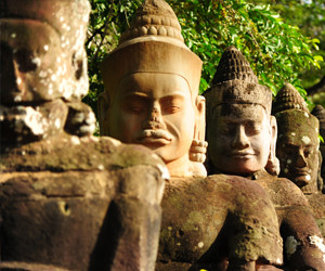 Cambodia temple on Cambodia cooking tour