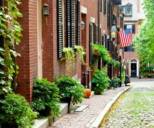 Boston's beautiful streets, wear comfy shoes