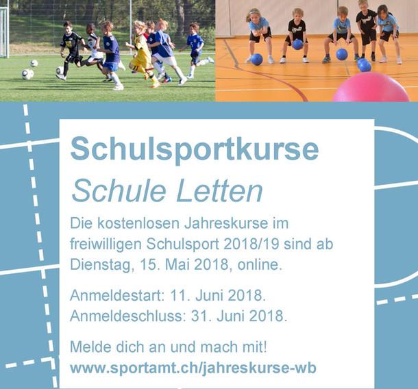 Freiwillige Schulsportkurse  für das SJ 2018/19
