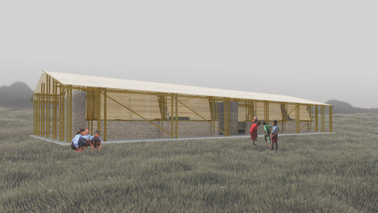 Bamboo School Building Prototype, Nepal