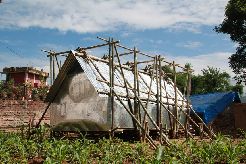 Bamboo Emergency Relief Shelter, Nepal