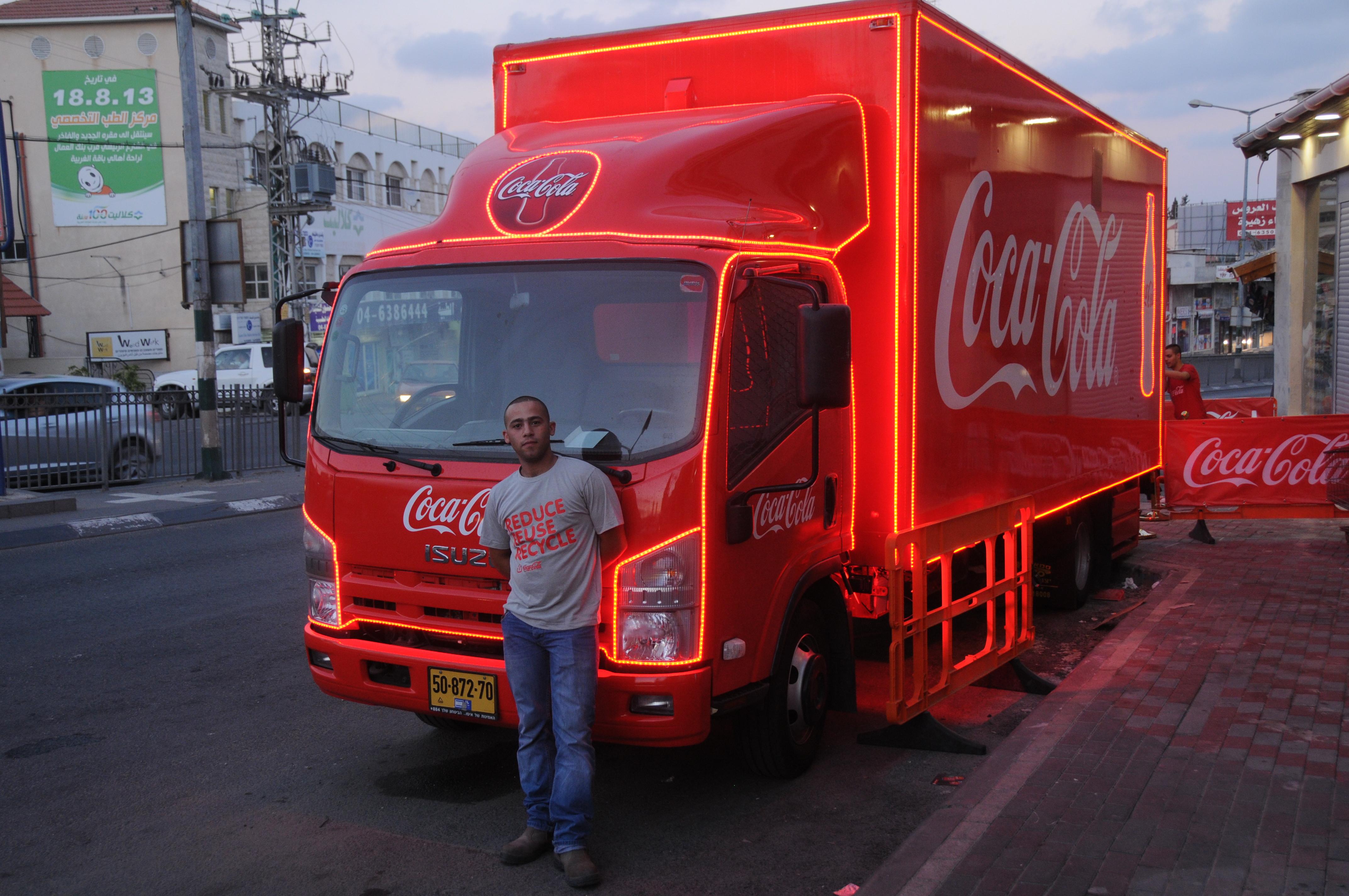 מגזר חרדי - משאית האושר של קוקה-קולה