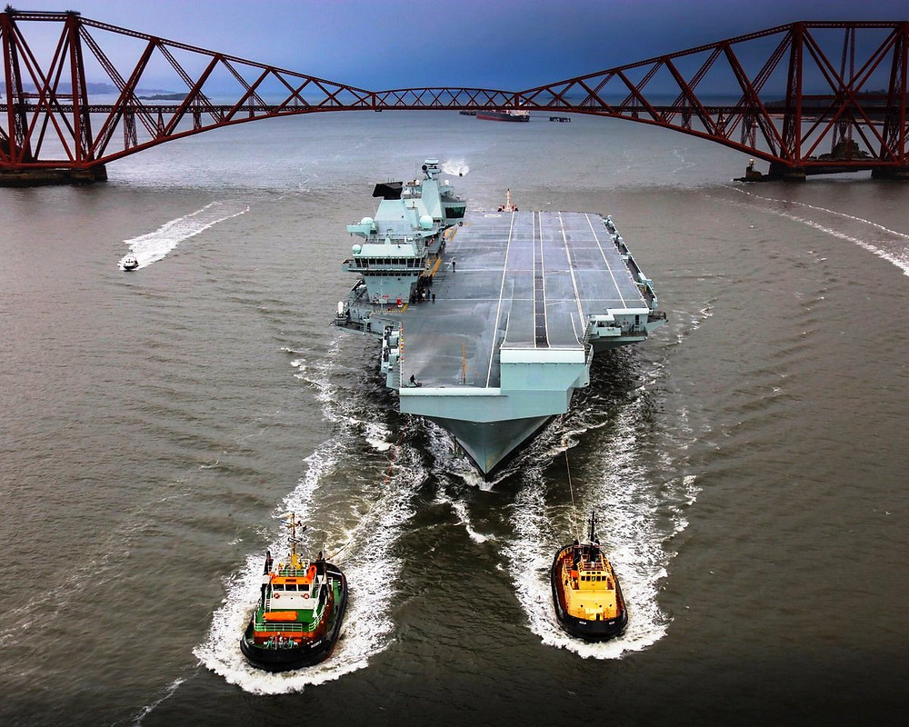 HMS Queen Elizabeth, 3-4-19 Pic courtesy of the Royal Navy in Scotland Twitter account