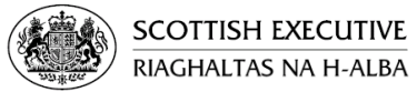 The Scottish Royal Cost of Arms in the Executive logo