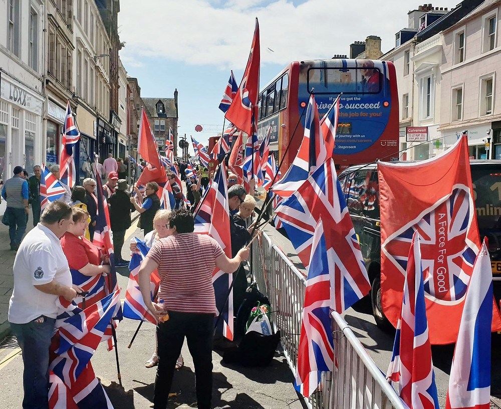 AFFG at Ayr 6-7-19 flying our Union Jacks high