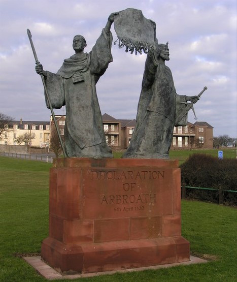Declaration of Arbroath statue courtesy of Wikipedia