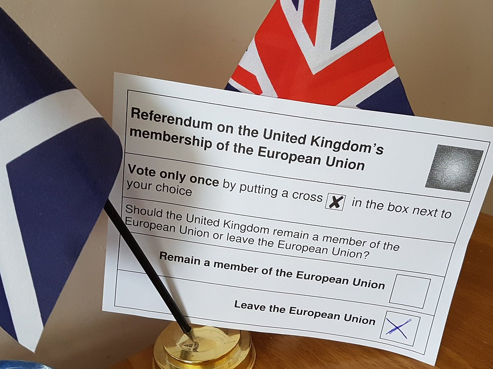 The ballot paper at the EU membership referendum 23 June 2016