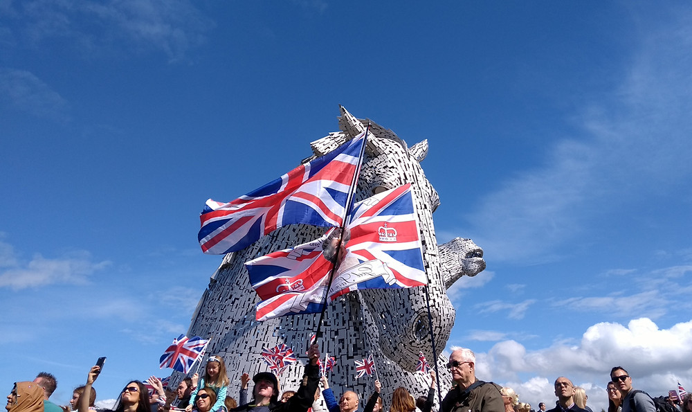 Our Activists welcome the Queen at the Kelpies on 5 July 2017