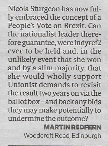 Scottish Daily Mail, 24-10-18.