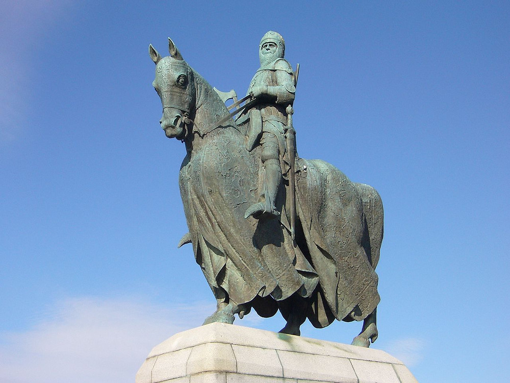 Robert the Bruce statue, Bannockburn courtesy of Wikipedia