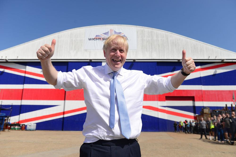 Boris Johnson on the Isle of Wight, 27-6-19, courtesy of countypress.co.uk