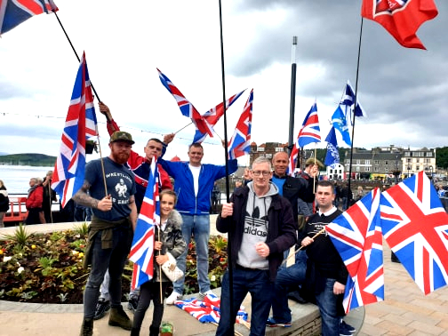 Turning Oban Red, White and Blue!
