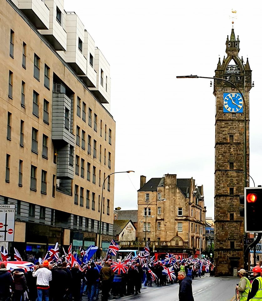 The March heading past the Tolbooth Steeple, 18-5-19 (Pic AFFG)