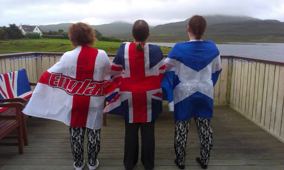 England and Scotland united within Britain