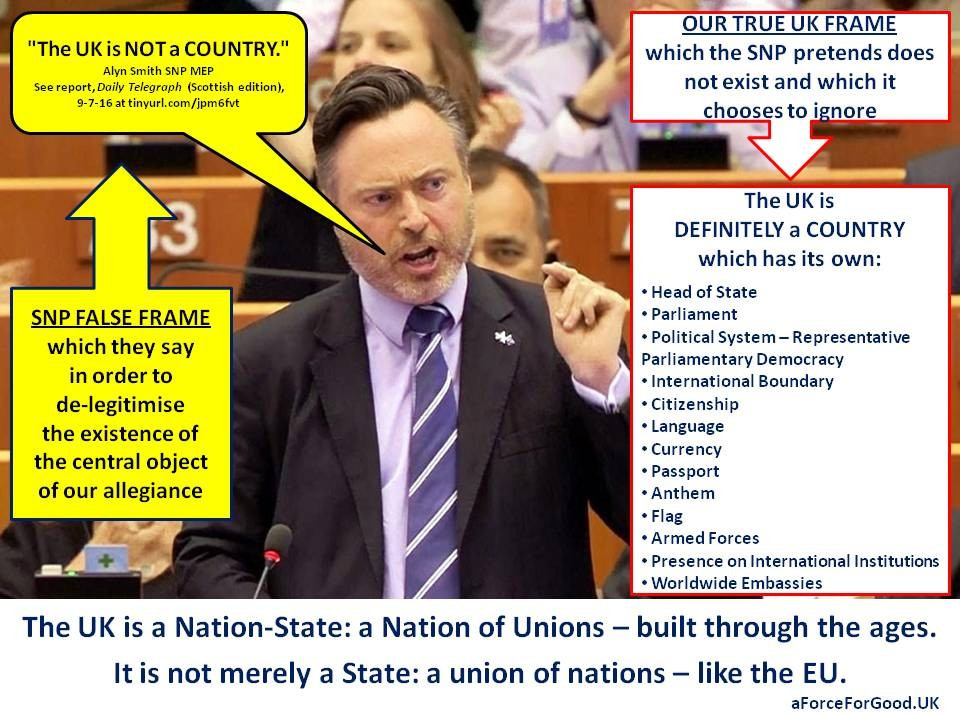 The UK is a Nation of Unions not a union of nations
