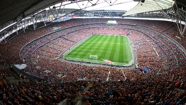 Wembley at full 90,000 capacity