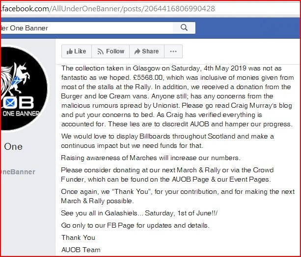 AUOB express disappointment with the amount raised 7-5-19