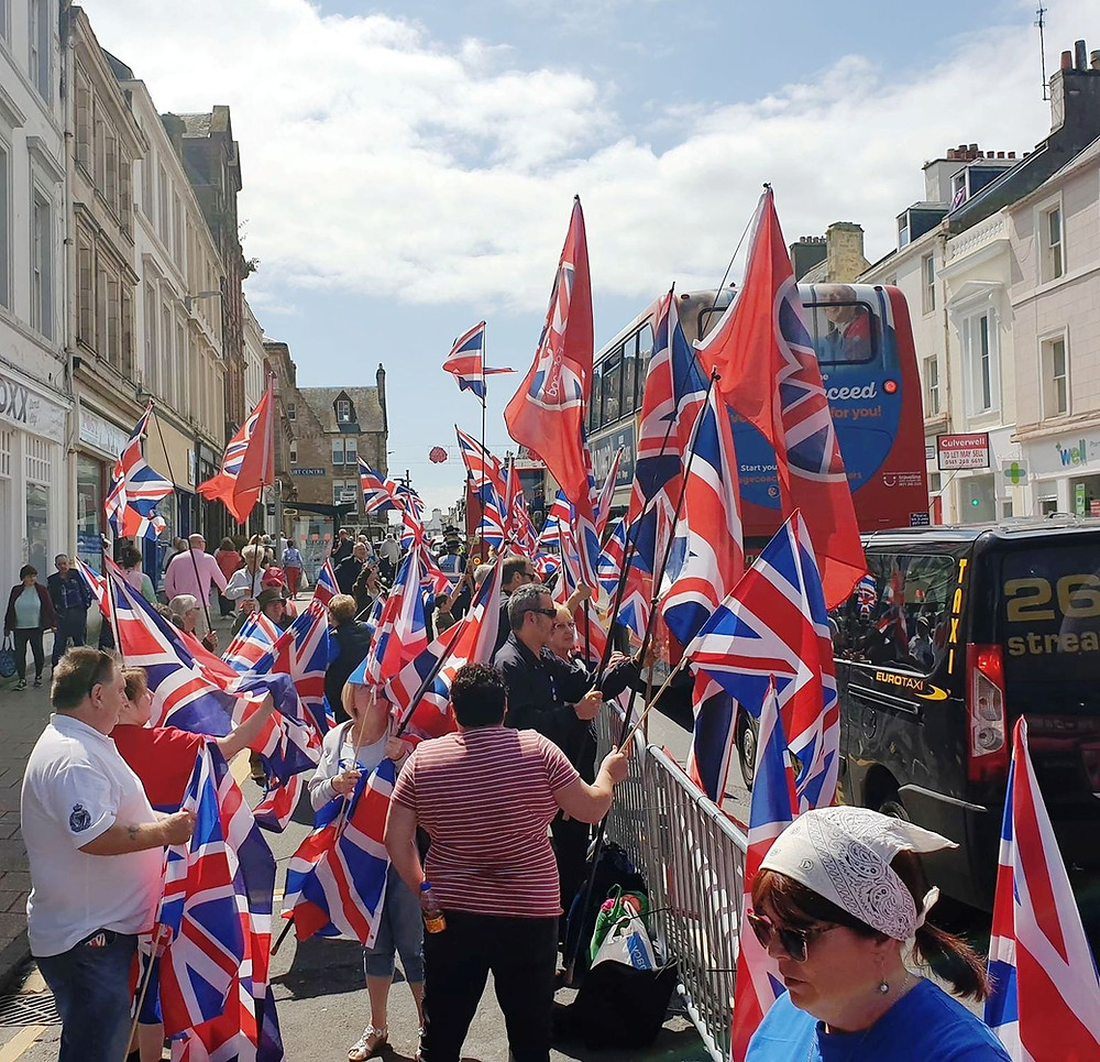 AFFG Activists in Ayr on 6-7-19 (Pic: AFFG)