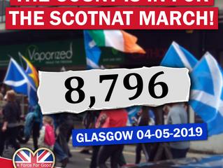 8,796 on Glasgow AUOB March, 4-5-19