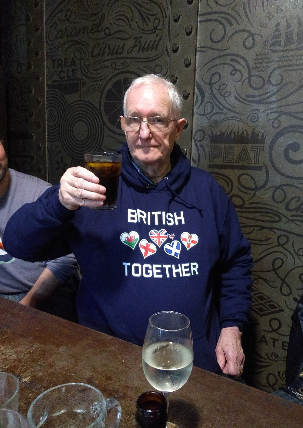 One of AFFG's Team Members raising a glass to our success this year. Pic AFFG 26-1-19