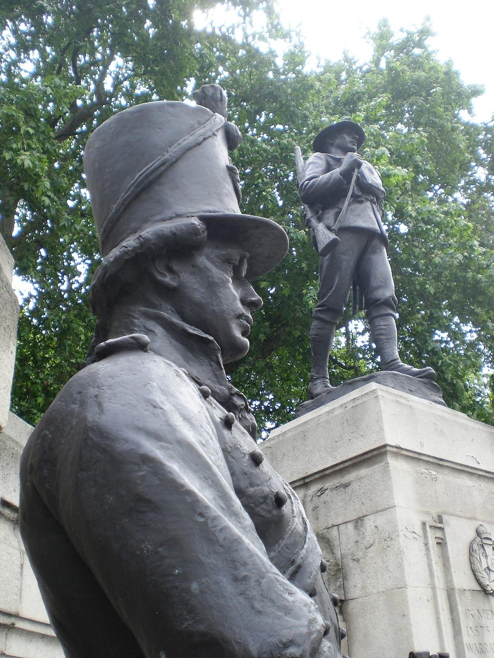 The Rifle Brigade memorial by John Tweed. Copyright AFFG 9-6-18.