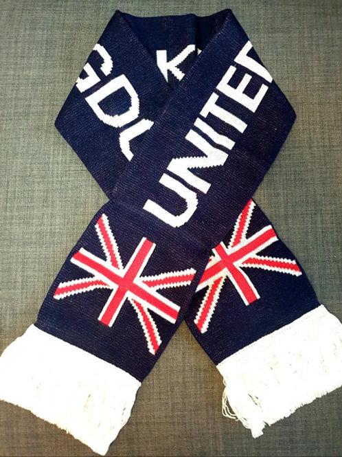 United Kingdom Scarf with Union Jack Motif
