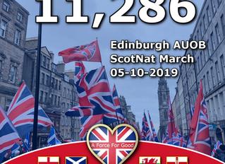 11,286 at Edinburgh AUOB March, 5-10-19