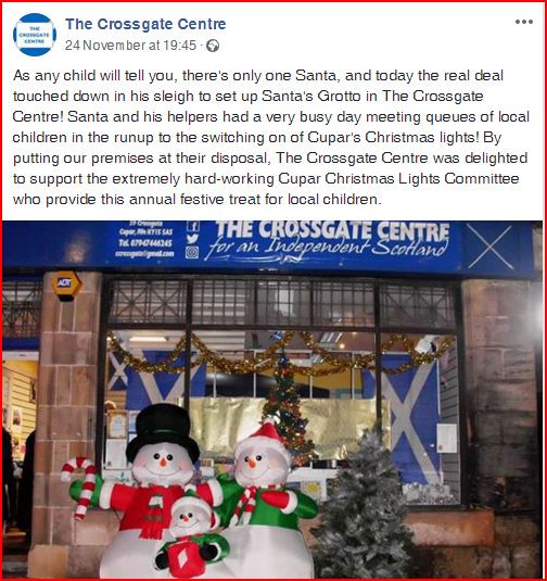 SNP Propaganda Outlet boasts about exploiting little children's fascination with Christmas